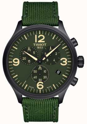 Tissot | Herren Chrono xl | grünes Stoffband | grünes Zifferblatt | T1166173709700