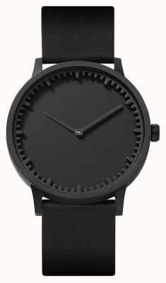Leff Amsterdam   Röhrenuhr   t40   schwarz   schwarzes Lederband   LT75212
