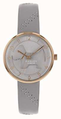 Radley | graues Lederband für Damen | graues Hundezifferblatt | RY2804