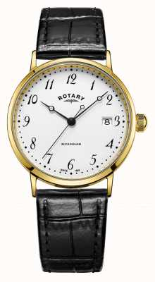 Rotary Mens 9ct Gold Fall Buckingham Uhr GS11476/18