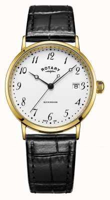 Rotary Herren 9 Karat Goldgehäuse Buckingham Uhr GS11476/18
