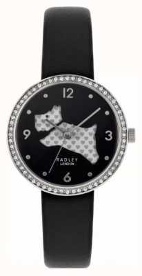 Radley | die schöne Natur der Frauen | schwarzes Leder | Marine Zifferblatt | RY2809