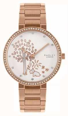 Radley | Damenarmband aus Roségold | weißes Baummotiv Zifferblatt | RY4388