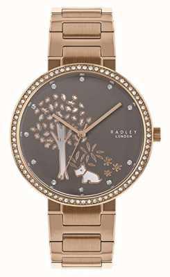 Radley | Damenarmband aus Roségold | weißes / graues Baumzifferblatt | RY4386