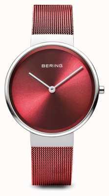 Bering Frauen | klassisch | rotes pvd überzogenes Stahlmaschenarmband 14531-303