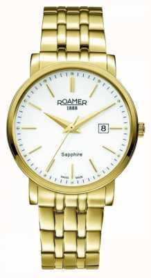 Roamer Klassische Linie | vergoldeter edelstahl | weißes Zifferblatt 709856-48-25-70