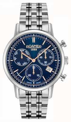 Roamer Vanguard chrono ll | Edelstahlarmband | blaues Zifferblatt 975819-41-45-90