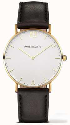 Paul Hewitt | Unisex Sailor Line Uhr | schwarzes Lederband | 6450854