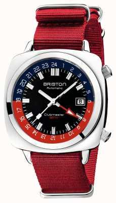 Briston Clubmaster gmt limited edition | auto | roter nato riemen 19842.PS.G.P.NR