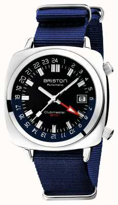 Briston Clubmaster gmt limited edition | auto | blaues nato band 19842.PS.G.9.NNB