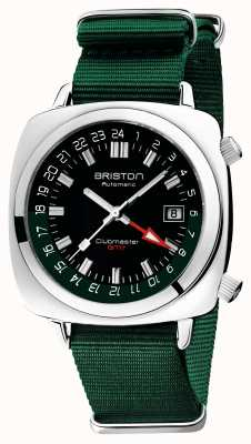 Briston Clubmaster gmt limited edition | auto | grüner nato riemen 19842.PS.G.10.NBG