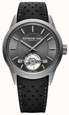 Raymond Weil Herren | Freiberufler | automatisch | graues Zifferblatt | schwarzer Radiergummi 2780-TIR-60001