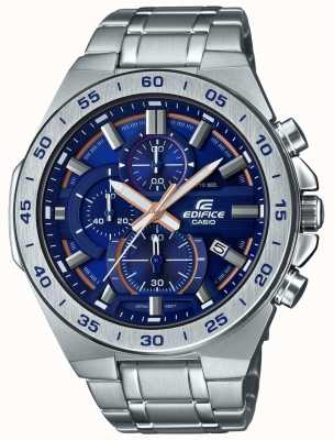 Casio | Gebäude Chronograph | Edelstahlarmband | blaues Zifferblatt EFR-564D-2AVUEF