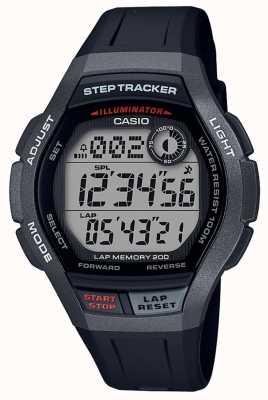 Casio | Sportuhr, Step Tracker | schwarzes Kautschukband | WS-2000H-1AVEF