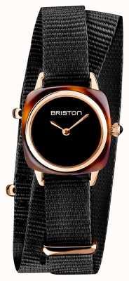 Briston   klubmeisterin dame   einzelnes schwarzes nato armband   Schildpatt 19924.PRA.T.1.NB