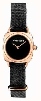 Briston | klubmeisterin dame | einzelne schwarze nato | roségold pvd hülle | 19924.SPRG.M.1.NB - SINGLESTRAP