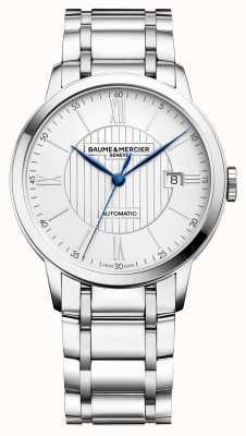 Baume & Mercier | Mens Classima | automatisch | Edelstahl | silbernes Zifferblatt M0A10215