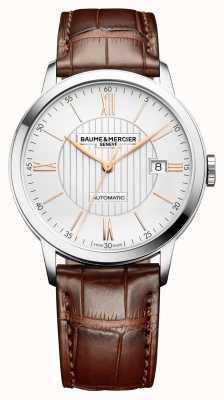 Baume & Mercier | Mens Classima | automatisch | braunes Leder | silbernes Zifferblatt | M0A10263