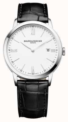 Baume & Mercier | mens classima | schwarzes Lederband | weißes Zifferblatt | M0A10323