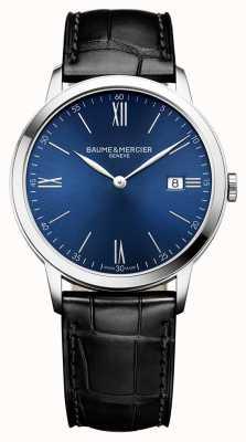 Baume & Mercier | Mens Classima | schwarzes Lederband | blaues Zifferblatt | M0A10324