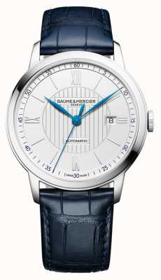 Baume & Mercier | Mens Classima | automatisch | blaues Leder | silbernes Zifferblatt | M0A10333