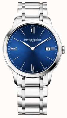 Baume & Mercier | Mens Classima | Edelstahlarmband | blaues Zifferblatt | M0A10382