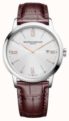 Baume & Mercier | Mens Classima | hellbraunes Leder | silbernes Zifferblatt | M0A10415