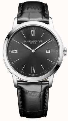Baume & Mercier | Mens Classima | schwarzes Leder | schiefergraues Zifferblatt | M0A10416