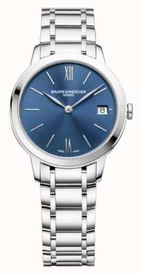 Baume & Mercier | Frauen classima | Edelstahl | blaues sunray zifferblatt | BM0A10477