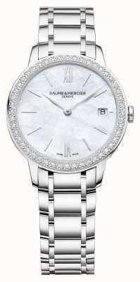 Baume & Mercier | Frauen classima | Diamant Lünette | Edelstahlarmband M0A10478