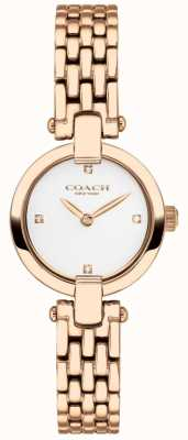 Coach | Frauen | chrystie | roségold pvd armband | weißes Zifferblatt | 14503392