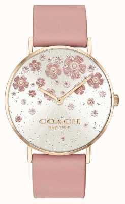 Coach | perry | erröten Lederband | floral glitter zifferblatt | 14503325