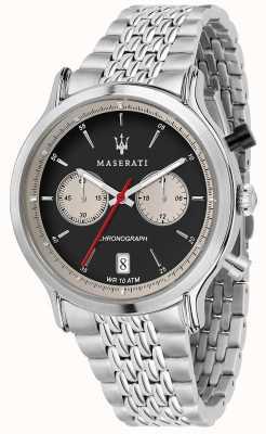 Maserati | epoca racing 42mm | Edelstahlarmband | schwarzes Zifferblatt R8873638001