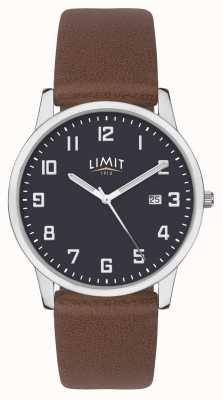 Limit | braunes Herrenlederband | blaues Zifferblatt | 5743.01