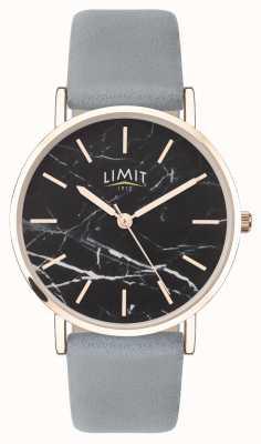 Limit | geheimer Garten der Frauen | graues Lederband | schwarzes Zifferblatt | 60046.73