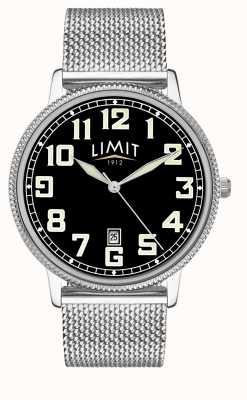 Limit | Herren Edelstahlgewebe Armband | schwarzes Zifferblatt | 5748.01