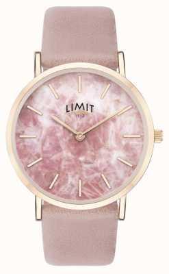 Limit   geheimer Garten der Frauen   rosa Lederband   rosa zifferblatt   60050.73