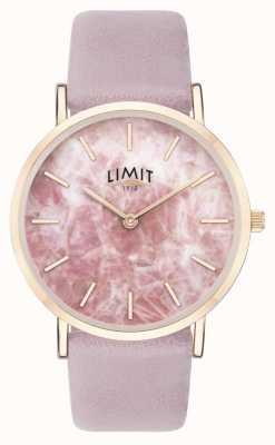 Limit   geheimer Garten der Frauen   lila Lederband   rosa zifferblatt   60051.73