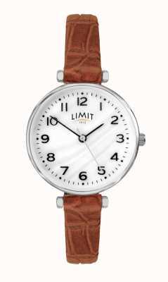 Limit | braunes lederband für damen | Perlmutt Zifferblatt | 60060.01