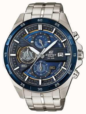 Casio | Gebäude Chronograph | Edelstahl | blaues Zifferblatt | EFR-556DB-2AVUEF