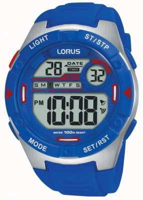 Lorus | herren sport digital | blaues Kautschukband | R2301NX9