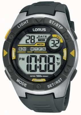 Lorus | herren sport digital | schwarzes Kautschukband | R2397MX9