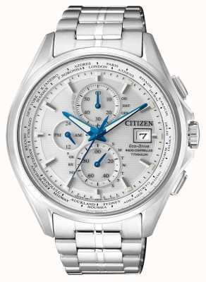 Citizen   Herren Eco-Drive Weltchronograph bei   Titan Armband   AT8130-56A