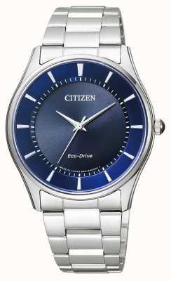 Citizen | Herren Eco-Drive | Edelstahlarmband | blaues Zifferblatt | BJ6480-51L