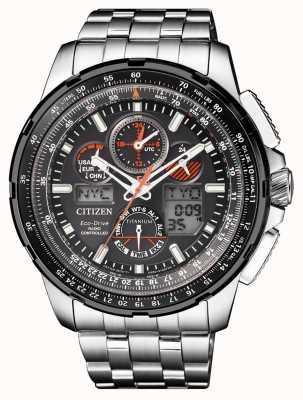 Citizen | mens eco-drive skyhawk bei | Titan Armband | schwarzes Zifferblatt JY8069-88E