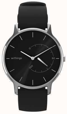 Withings Bewegen Sie sich zeitlos schick - schwarzes, schwarzes Silikon HWA06M-TIMELESS CHIC-MODEL 1-RET-INT
