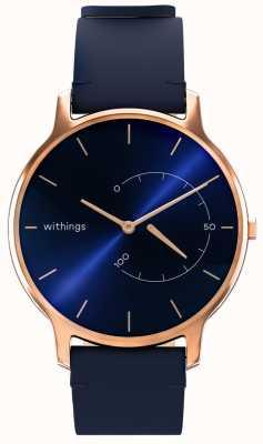 Withings Bewegen Sie zeitlos schick - blaues Leder, Roségold HWA06M-TIMELESS CHIC-MODEL 3-RET-INT