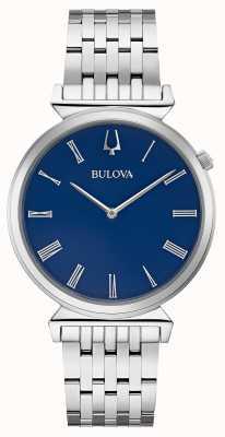 Bulova | herren | Edelstahlarmband | blaues Zifferblatt | 96A233