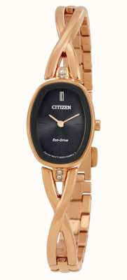 Citizen | womens silhouette eco-drive | goldfarbenes Armband | EX1413-55E