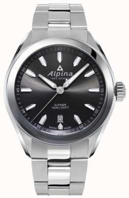Alpina | Herren Alpiner | Edelstahlarmband | graues Zifferblatt | AL-240GS4E6B